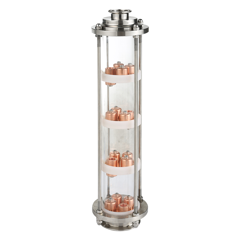 Colonne de verre pour la distillation.