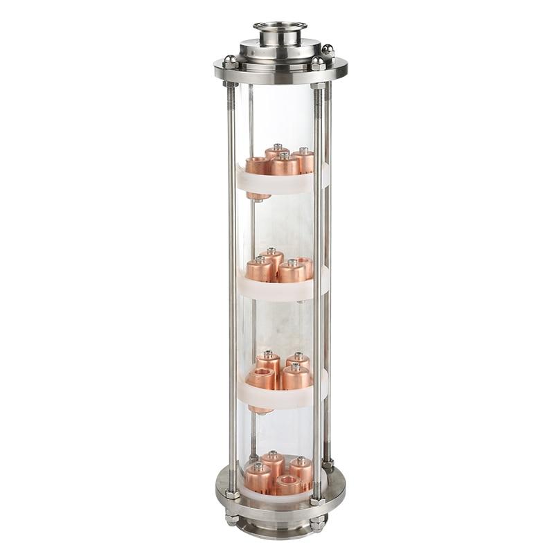 Coluna de vidro para destilação.