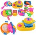 17 unids/set Play House juguetes pequeño Chef de cocina utensilios de cocina de simulación niños del bebé herramientas para la educación temprana