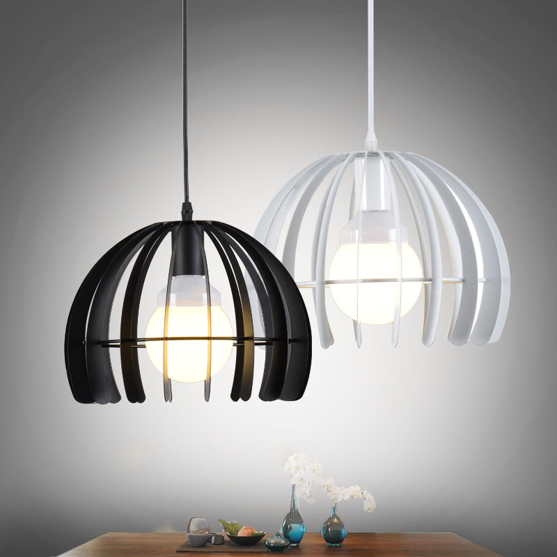 ФОТО elegant design wrought iron simple modern pendant lamp with LED bulb  dinning room light cafe lamp E27 110v 220v free shipping