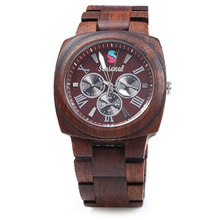 2016 New Fashion Retro Seasonal Men Maple Quartz Watch with Decorative Sub dials Men Wristwatch relogio