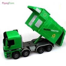 대형 쓰레기 트럭 위생 트럭 어린이 장난감 아이 선물 관성 공학 자동차 쓰레기 자동차 모델 쓰레기 차량 다이 캐스트