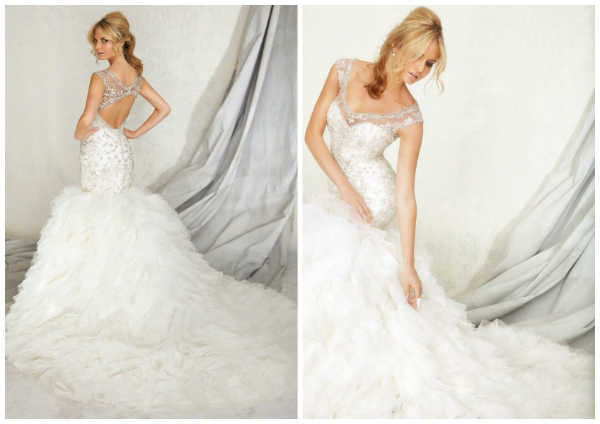 Wedding Dresses Real : Real pictures wedding dresses sexy back stones bridal gown in