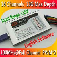 Kingst LA1016 USB Logic Analyzer 100 M max probe rate, 16 Kanäle, 10B proben, MCU, ARM, FPGA debugging-tool, englisch software