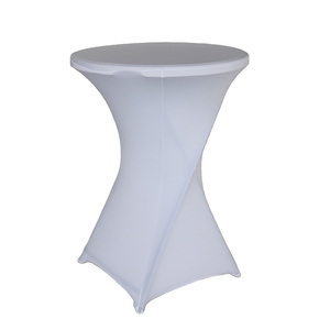 Image 1 - 1pcs Dry Cocktail Spandex Table Covers For Wedding Decor Lycra Bistro Event Party Increase Thickening Tablecloth