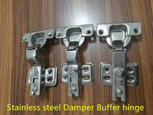 Stainless steel Hinges Hydraulic Furniture Hinges Damper Buffer Cabinet Cupboard Door Hinges Soft Close Furniture Hardware