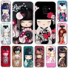Kawaii Japanse Kokeshi Pop Hard Telefoon Cover Case Voor Samsung Galaxy A3 A5 2016 2017 A7 A8 A9 2018 Een 10 30 40 50 70(China)