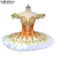 BT9134A конкурс для девочек оранжевый блин пачки белый тюль Для женщин желтый Фея Драже профессиональная балетная пачка сценические костюмы