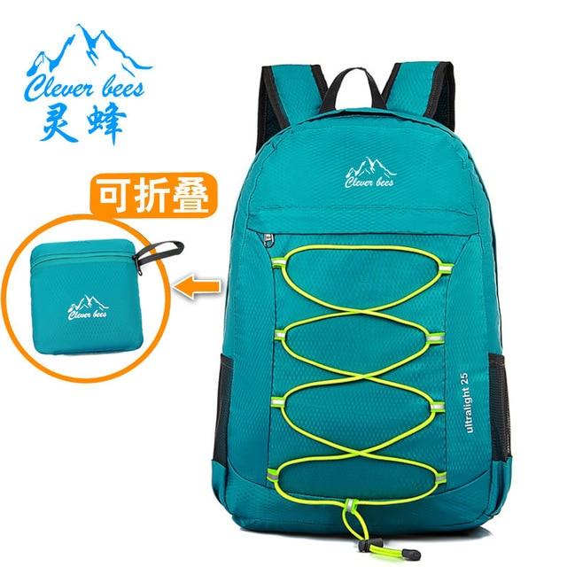 3cc40f918c45 LINGFENG 15L Foldable Backpack Waterproof Climbing Rucksack Backpack  Outdoor Bag Cycling Backpack Travel Hiking Bag Stuff Sack
