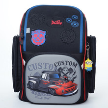 Children trendy 3D Delune high quality cartoon character cars pattern school bags for boys primary school backpack