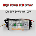 High power LED Driver 10W 20W 30W 50W 100W Waterproof Lighting Transformers