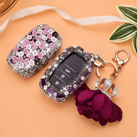 Car Smart Remote Control Key Case Cover Luxury Diamond Key Crystal Shell Protect for Toyota Camry RAV4 Crown Highlander Corolla