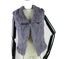 2017 New Real Knitted Rabbit Fur Vest For Women Genuine Waistcoat Natural Outwear Winter Hot Sale