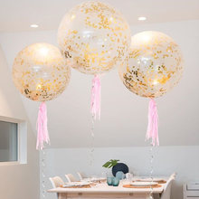 36 inch toy children party decoration birth balloon toy hat confetti balloon hat transparent latex balloon toy(China)