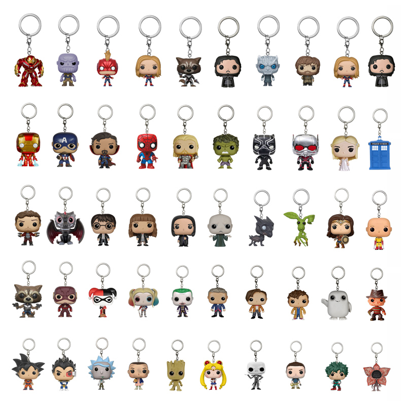 Plush Keychain Marvel Avengers Cute Keychain Game Of Throne Key Ring Key Chain