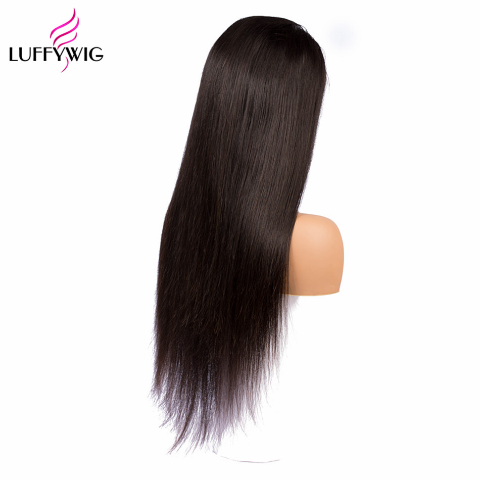 LUFFYHAIR Brazilian Straight Remy Hair 13x6 Lace Front Human Hair Wigs Pre plucked With Baby Hair For Women