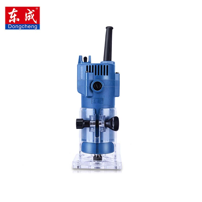 Dongcheng 220V 30000RPM Electric Hand Trimmer Wood Edge 1/4'' Wood Router Trimmer Router Tools for Woodworking Drilling Tool цена