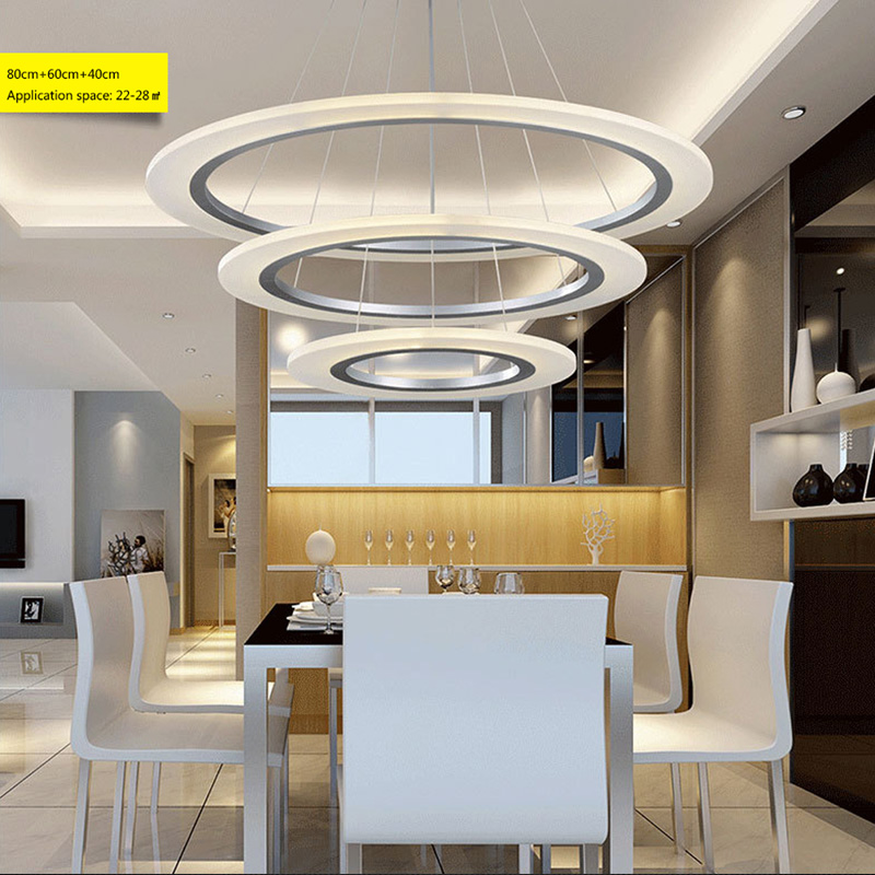 Modern LED Crystal Chandelier Lights Lamp Living Room Bedroom Lustre Ring Chandelier Lights Led Round Hanging lighting Fixtures noosion modern led ceiling lamp for bedroom room black and white color with crystal plafon techo iluminacion lustre de plafond