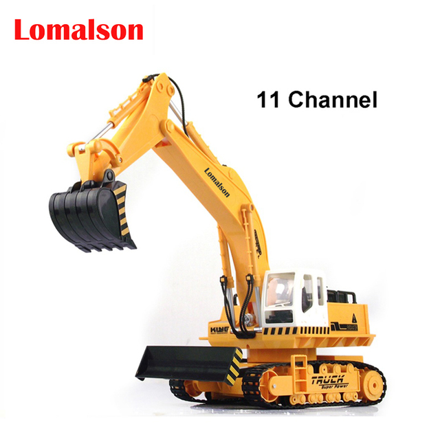 11 channel rc excavator,Advanced remote control excavator vehicle,Charging set, electric engineering vehicles,Most gift