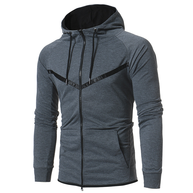 Autumn Winter Mens Hoodie Men Casual Coat Fashion Long Sleeve Hooded Jackets Cardigan Zipper Hoodies Male Tops 3colour