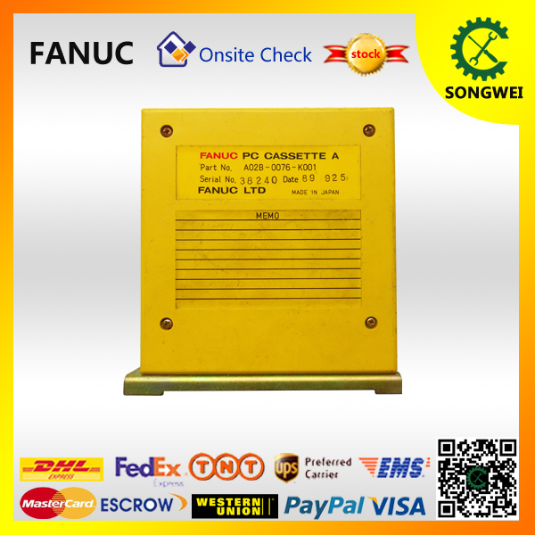 DHLor Fedex free shipping 100% tested FANUC circuit boards A02B-0076-K001 cnc control  spare pcb  warranty for three months