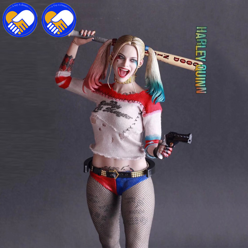 2018 NEW Arrivals Suicide Squad Harley Quinn 1/6 th Scale Collectible Figure Model Toy 28.5cm Free Shipping neca batman arkham city harley quinn 1 4 scale action figure collectible model toy 43cm ems free shipping