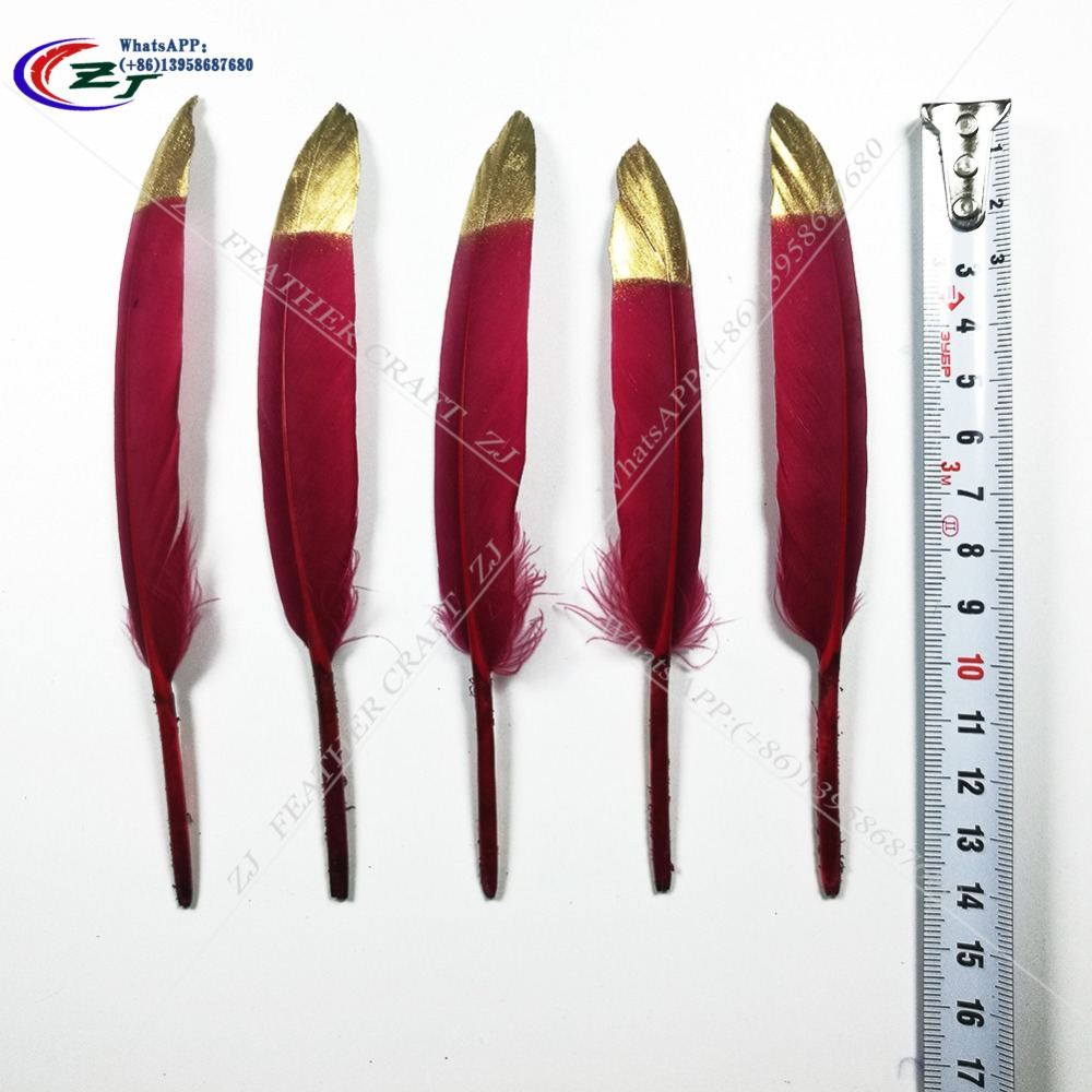 Free shipping!Hot sell 100 PCS/color Gold/Drak Burdgundy 10-15 cm goose feather mask, saddle horn process hat/party