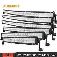 """Auxmart 5D 22 """"32"""" 42 """"50"""" 52 """"54"""" curva de luz LED bar 12 v 24 v combo viga LED Bar Offroad caravana de camiones 4×4 4WD SUV ATV Barra"""