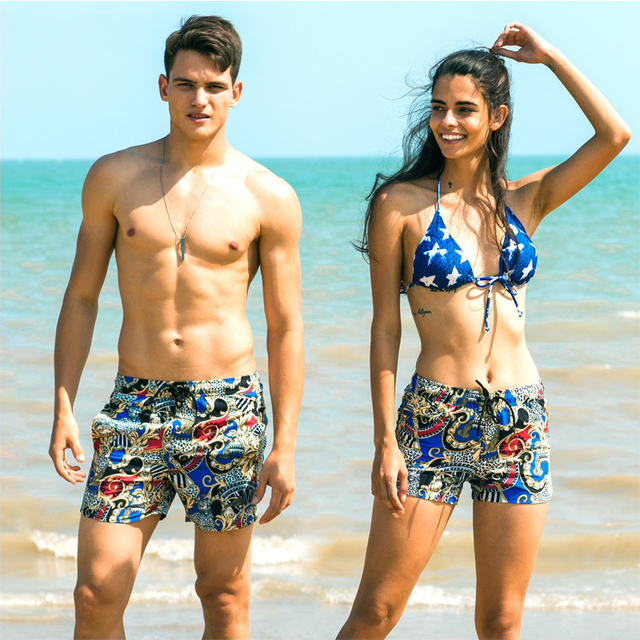 3521297e7a vogue couples swimwear honeymoon vacation beach leisure shorts briefs women  men swimwear sunga sports surfing swim suit shorts