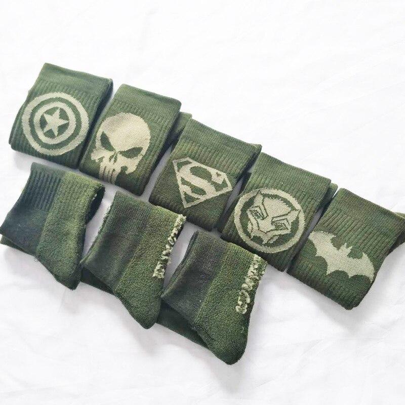 96a5628b7 Marvel Wonder Woman Sign printing socks Punisher cosplay batman Captain  America Personalized funny happy funky women men sokken-in Men s Socks from  ...