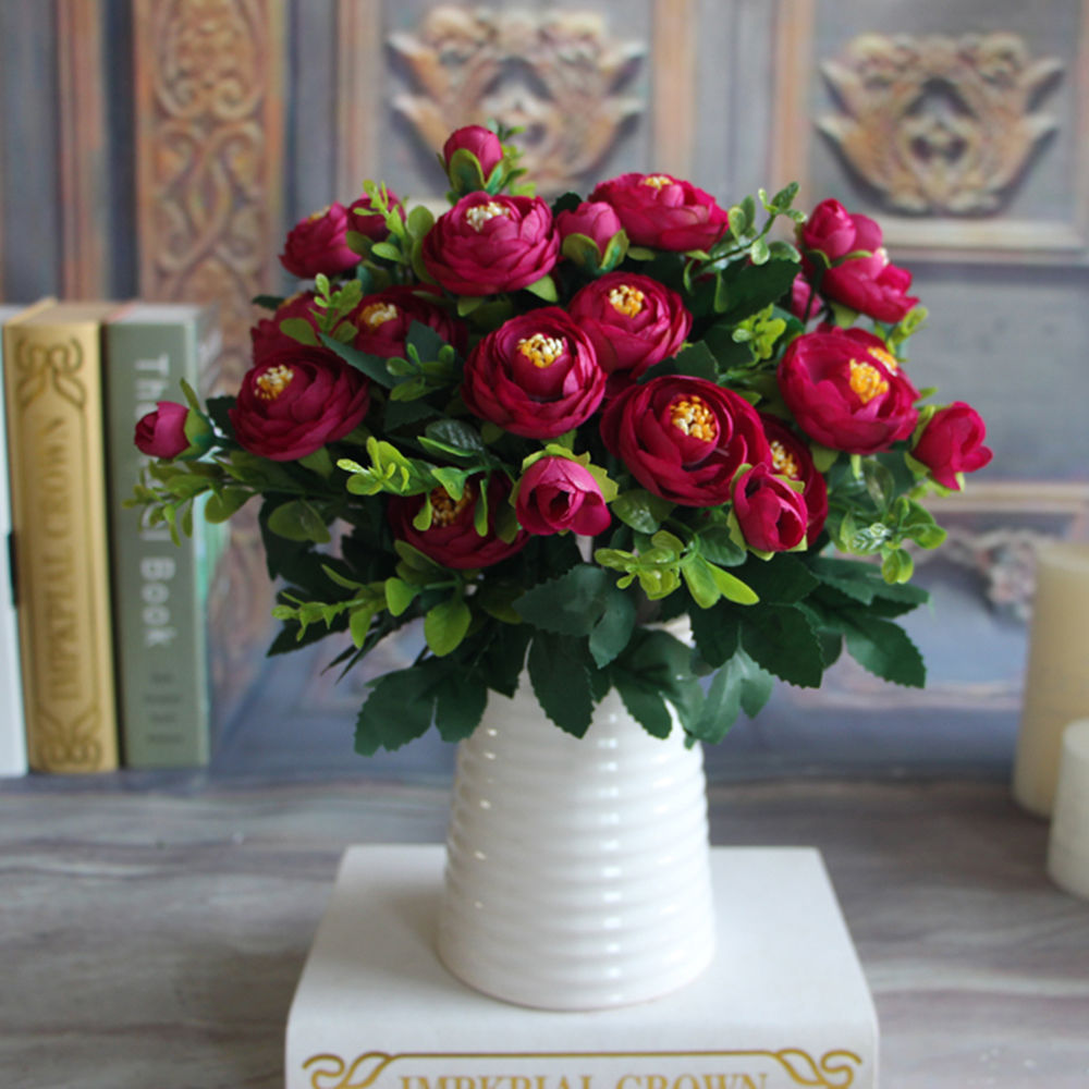 Aliexpress Buy High Quality Silk Flower European 1 Bouquet