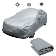 Universal Full Car Covers Snow Ice Rain Waterproof Dust Sun UV Rain Shade Cover Silver Size S-XL Auto Car Outdoor Protector (China)