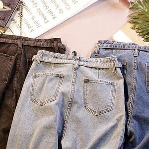 Image 5 - Summer Jeans Woman Vintage Plus Size High Waist Jeans Lace Up Boyfriend Jeans For Women Casual Denim Harem Pants Trousers C4238