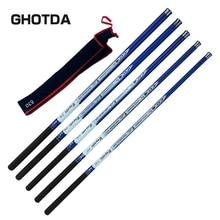 Hot Sale Ultralight SuperHard 3.6/4.5/5.4/6.3/7.2 Meters Stream Hand Pole Carbon Fiber Casting Telescopic Fishing Rods