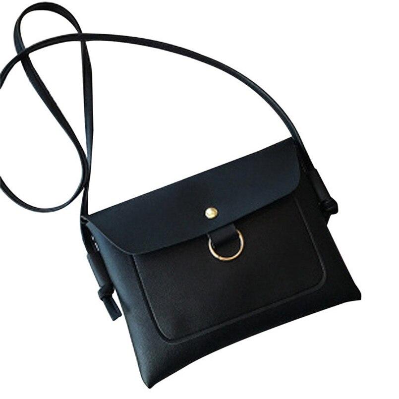 New Brand Women Leather Messenger Bags Ladies Pure Colour Crossbody Shoulder Bags Handbag Small Cross Body Bag bolsa feminina S