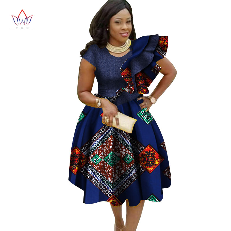 <font><b>Big</b></font> <font><b>Size</b></font> Traditional <font><b>Dresses</b></font> for Women 2019 Dashiki Elegant Bohemian Beach <font><b>Dress</b></font> Vestido <font><b>Sexy</b></font> African Clothes WY2756 image
