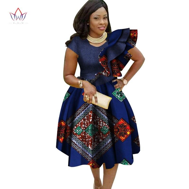 Grande taille robes traditionnelles pour les femmes 2019 Dashiki élégant bohème robe de plage Vestido Sexy vêtements africains WY2756