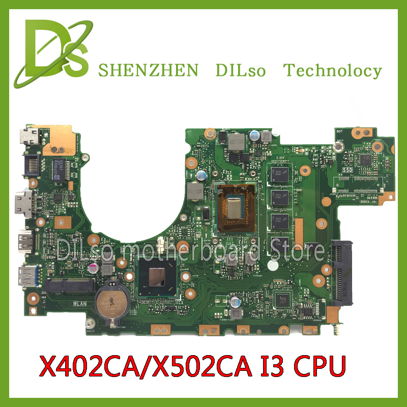 KEFU X502CA For ASUS X502CA X402CA laptop motherboard X502CA motherboard rev2.0 4G RAM i3 cpu Test for asus x502ca laptop motherboard x402ca rev2 1 with 847cpu 4g mainboard fully tested