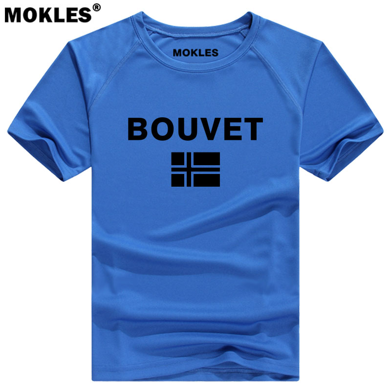 BOUVET t shirt free diy custom made name number print photo bvt country t-shirt nation flag english island college black clothes