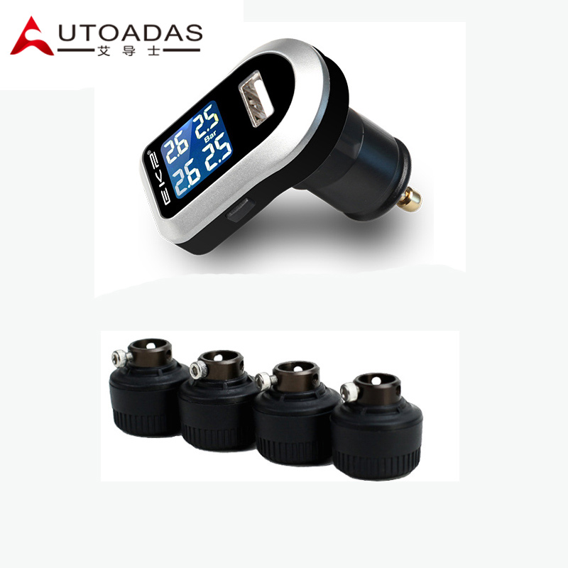 ФОТО Car TPMS with 4 external sensors PSI/BAR tyre pressure monitoring system with USB Diagnostic Tools  diagnostic toolt tpms psi