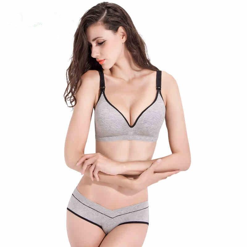 Strapless bra Maternity Nursing Bra Wire Free sleep bras for nursing pregnant women underwear clothes Bralette Bras+underwear