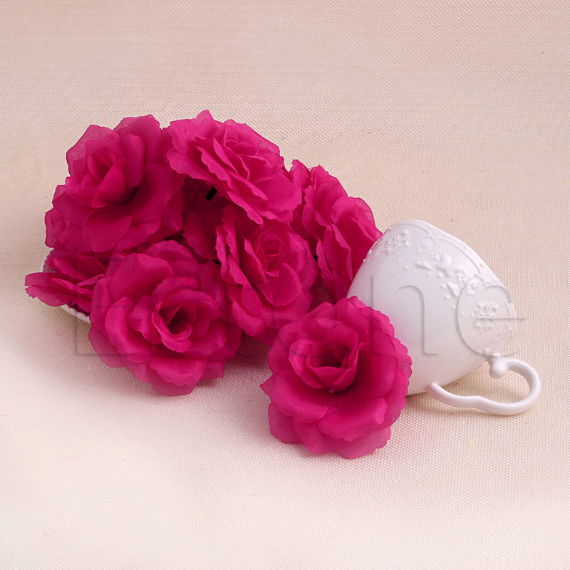 20Pcs Roses Artificial Silk Flower  Wedding Bouquet Heads DIY Small Bud Party Wedding Home Decor