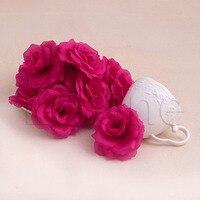 20Pcs Roses Artificial Silk Flower  Wedding Bouquet Heads DIY Small Bud Party Wedding Home Decor Wedding Bouquets