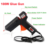 Free Shipping 60W AT 8 DIY Hot Melt Glue Gun US Plug Black Color Sticks Trigger