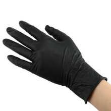 Tattoo Gloves Nitrile Rubber Waterproof Black Disposable Large Size Medical Permanent Makeup Tattoo Supply Tattoo Accessories цена