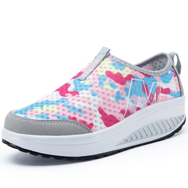 f3726a5fcb89 ... Sneakers Shoes Spell Shoes Women Sneakers Mesh Shoes Colors Shoes  Fashion Casual Shake Wedges Casual Breathable ...