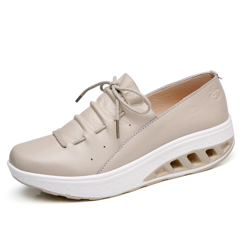 Women's Shoes Sneakers Flat Platform Plus-Size Fashion Casual Increased Internal 36-42