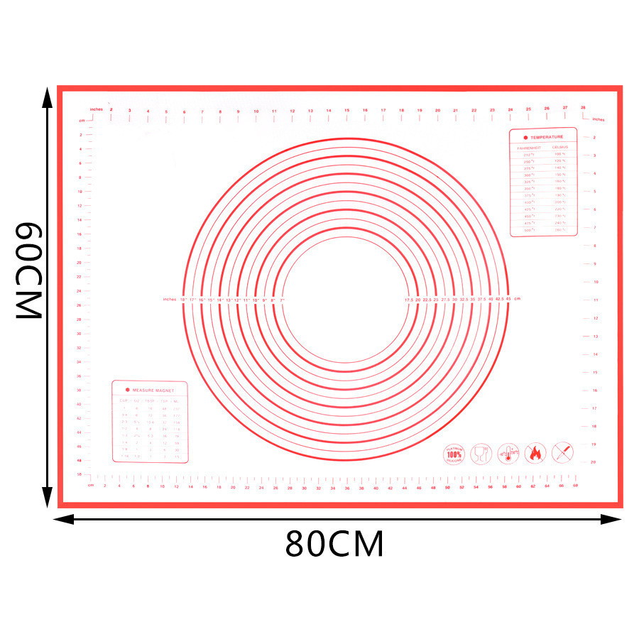 Big Size Non_Stick Silicone Baking Mat reusable Tool 80*60CM /70*50CM/60*60CM /60*50CM
