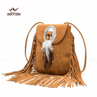Новый Винтаж богемный бахромой Crossbody Сумка кисточкой Boho Хиппи Цыганский бахромой сумка Для женщин Мода сумка 389
