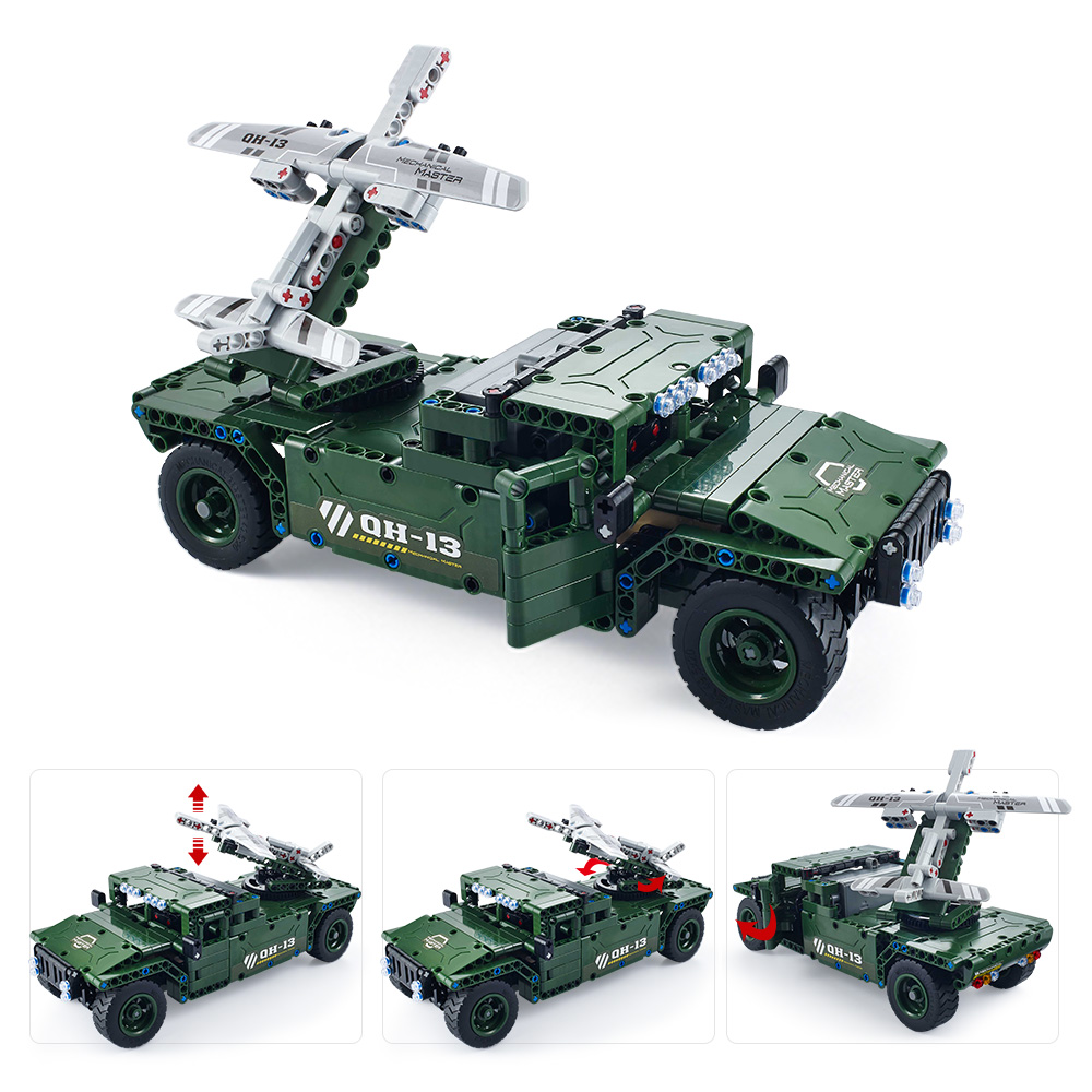 506pcs utoghter 69002 24g rc uav carrier building blocks kits toy bricks hot rc car model perfect remote control toys for kids